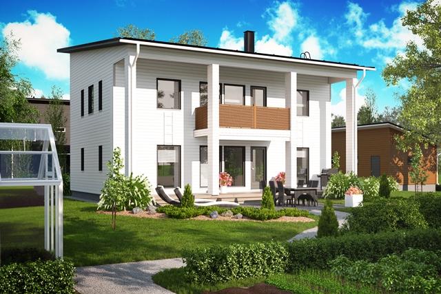 Julkisivukuva - Design-Talo, Design Tammisaari D2 183